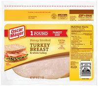 Oscar Mayer Honey Smoked Turkey Breast Cold Cuts 16 oz. ZIP-PAK®