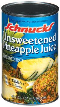 Schnucks Pineapple Unsweetened Juice 46 Fl Oz Can