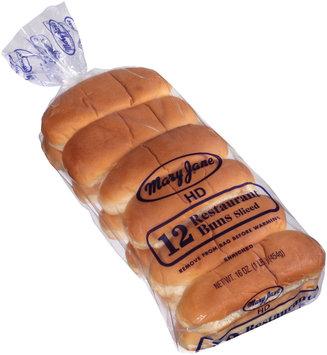 Mary Jane® Restaurant Sliced Hot Dog Buns 12 ct Bag