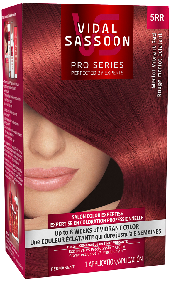 Vidal Sassoon Pro Series 5RR Merlot Vibrant Red Hair Color Kit