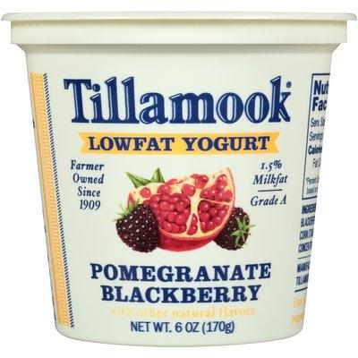 Tillamook® Pomegranate Blackberry Lowfat Yogurt 6 oz. Cup