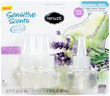 Renuzit® Pure White Pear & Lavender™ Scented Oil Air Freshener Refill 3 ct Carded Pack