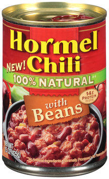 Hormel® 100% Natural Chili with Beans 15 oz. Can
