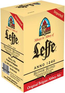 Leffe Blonde Beer 1 Pint, 9.36 Fl Oz 6 Pk Glass Bottles