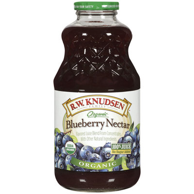 R.W. Knudsen Organic Blueberry Nectar Juice Blend 32 oz Bottle