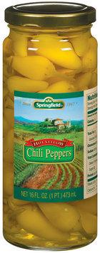 Springfield Hot Yellow Chili Peppers 16 Fl Oz Jar