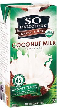 So Delicious® Dairy Free Unsweetened Coconut Milk Beverage 64 fl. oz. Aseptic Carton