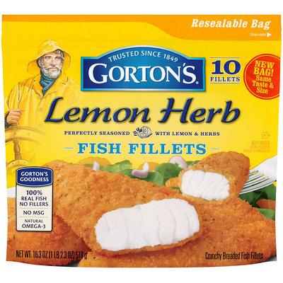 Gortons® Lemon Herb Crunchy Breaded Fish Fillets 10 ct. Bag.