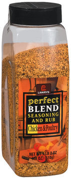 Spice & Seasoning Perfect Blend Chicken & Poultry Lawry's Seasoning & Rub 18 Oz Plastic Jar
