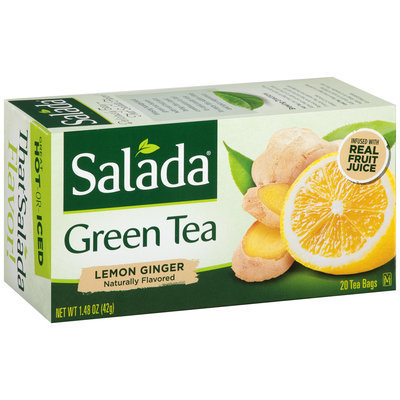 Salada® Lemon Ginger Green Tea Bags 1.48 oz. Box