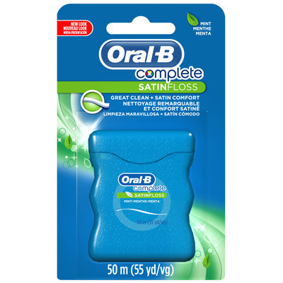 Oral-B Complete Satin Floss Mint 55 yd Carded Pack