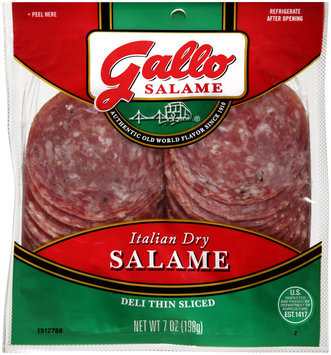Gallo Salame® Deli Thin Sliced Italian Dry Salame 7 oz. Packet