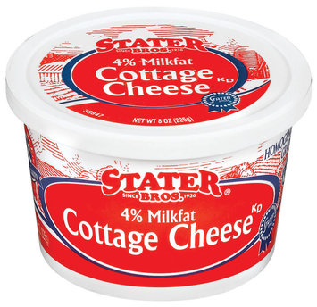 Stater Bros. 4% Milkfat Cottage Cheese 8 Oz Tub