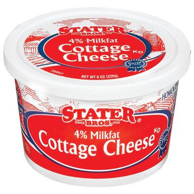 Stater Bros. 4% Milkfat Cottage Cheese 8 Oz Tub