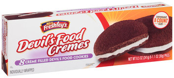 Mrs. Freshley's® Creme Filled Devil's Food Cremes Cookies 8-1.1 oz. Packs