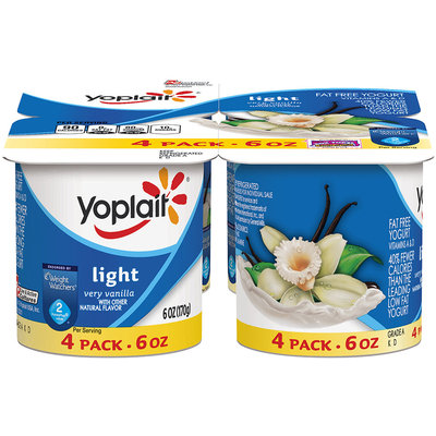 Yoplait® Light Very Vanilla Fat Free Yogurt 4-6 oz. Cups