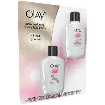 Active Hydrating Olay Active Hydrating Beauty Fluid Lotion Twin Pack, 12 Fl Oz