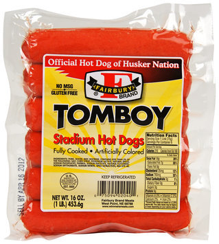 Fairbury Brand® Tomboy Stadium Hot Dogs 16 oz. Package
