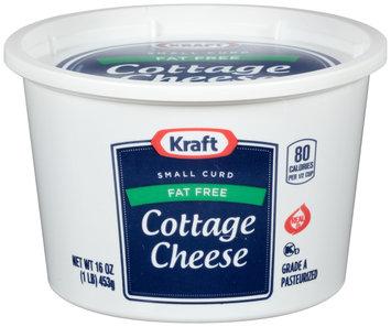 Kraft Small Curd Fat Free Cottage Cheese 16 oz. Tub