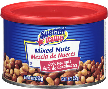 Special Value® Mixed Nuts 9 oz. Canister