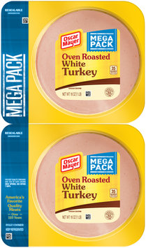 Oscar Mayer Oven Roasted White Turkey Cold Cuts 2-16 oz. Packs