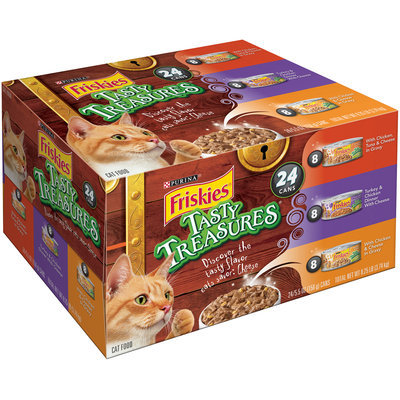 Purina Friskies Tasty Treasures Variety Pack Cat Food 24-5.5 oz. Cans - WalMart
