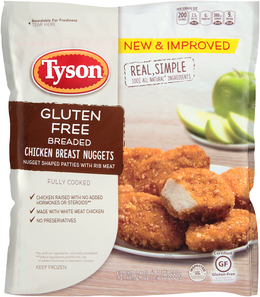 Tyson® Gluten Free Breaded Chicken Breast Nuggets 24 oz. Bag
