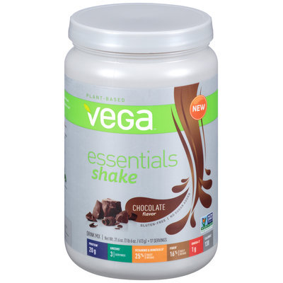 Vega™ Essentials Protein Shake Chocolate Flavor Drink Mix 21.6 oz. Bottle