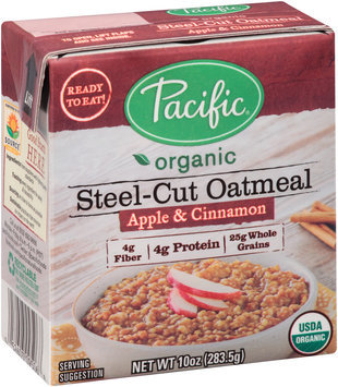 Pacific Organic Apple & Cinnamon Steel-Cut Oatmeal