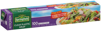 Springfield® Clear Plastic Wrap with Push 'N Lock Tabs 100 sq. ft. Box