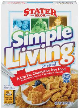 Stater Bros. Simple Living Oat Cereal 15 Oz Box