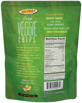 Mrs. May's™ Naturals Crispy Veggie Chips Garden Fresh Mix 4 oz. Stand-up Bag