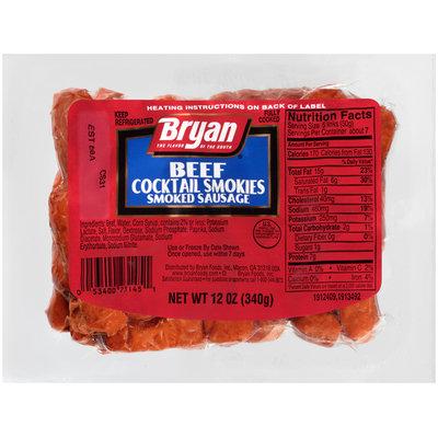Bryan® Beef Cocktail Smokies Smoked Sausage 12 oz. Wrapper