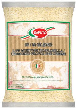 Saputo® 50/50  Blend Low Moisture Mozzarella & Unsmoked Provolone Cheese 5 Lb Bag