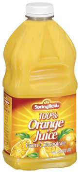 Springfield Orange from Concentrate 100% Juice 64 Oz Plastic Bottle