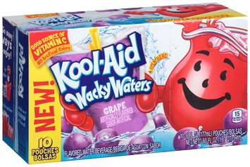 Kool-Aid Wacky Waters Grape Flavored Water Beverage 10-6 fl. oz. Pouches