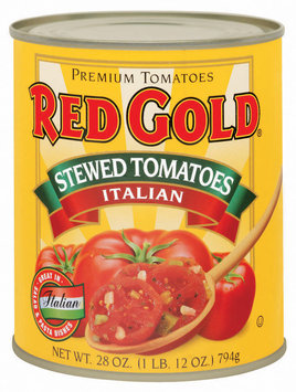 Red Gold Stewed Italian Tomatoes 28 Oz Can