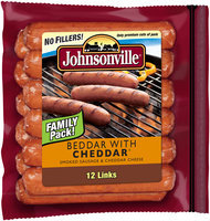 Johnsonville Beddar with Cheddar Smoked Sausage 28oz 12ct zip pkg (101766)