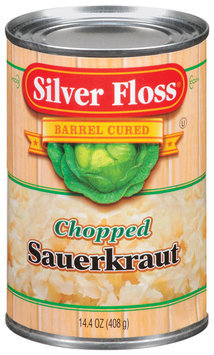 Silver Floss Chopped Sauerkraut 14.4 Oz Can