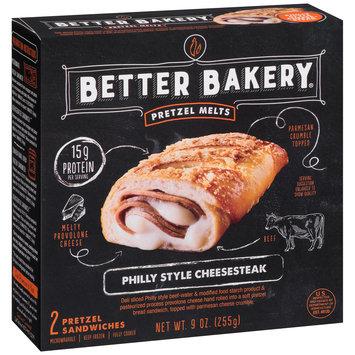 Better Bakery® Pretzel Melts Philly Style Cheesesteak 9 oz. Box