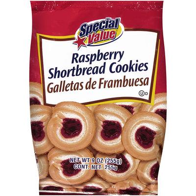 Special Value® Shortbread Cookies Raspberry 9 oz. Bag