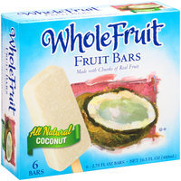 Whole Fruit® All Natural Coconut Fruit Bars 6 ct Box
