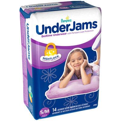 Under Jams Pampers UnderJams Bedtime Underwear Girls Size S/M 14 count
