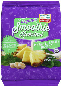 Earthbound Farm® Organic Smoothie Kickstart Pineapple Spinach Banana 8 oz. Bag