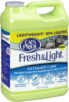 Cat's Pride® Fresh & Light® Ultimate Care™ Unscented Hypoallergenic Multi-Cat Litter 10 lb Jug