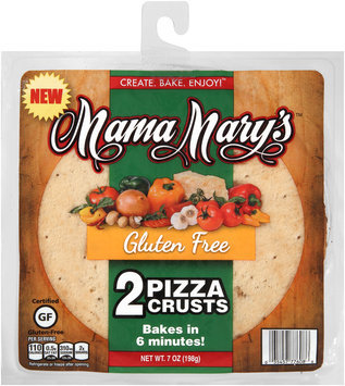 Mama Mary's® 7 in. Gluten Free Pizza Crust 7 oz. 2 Pack