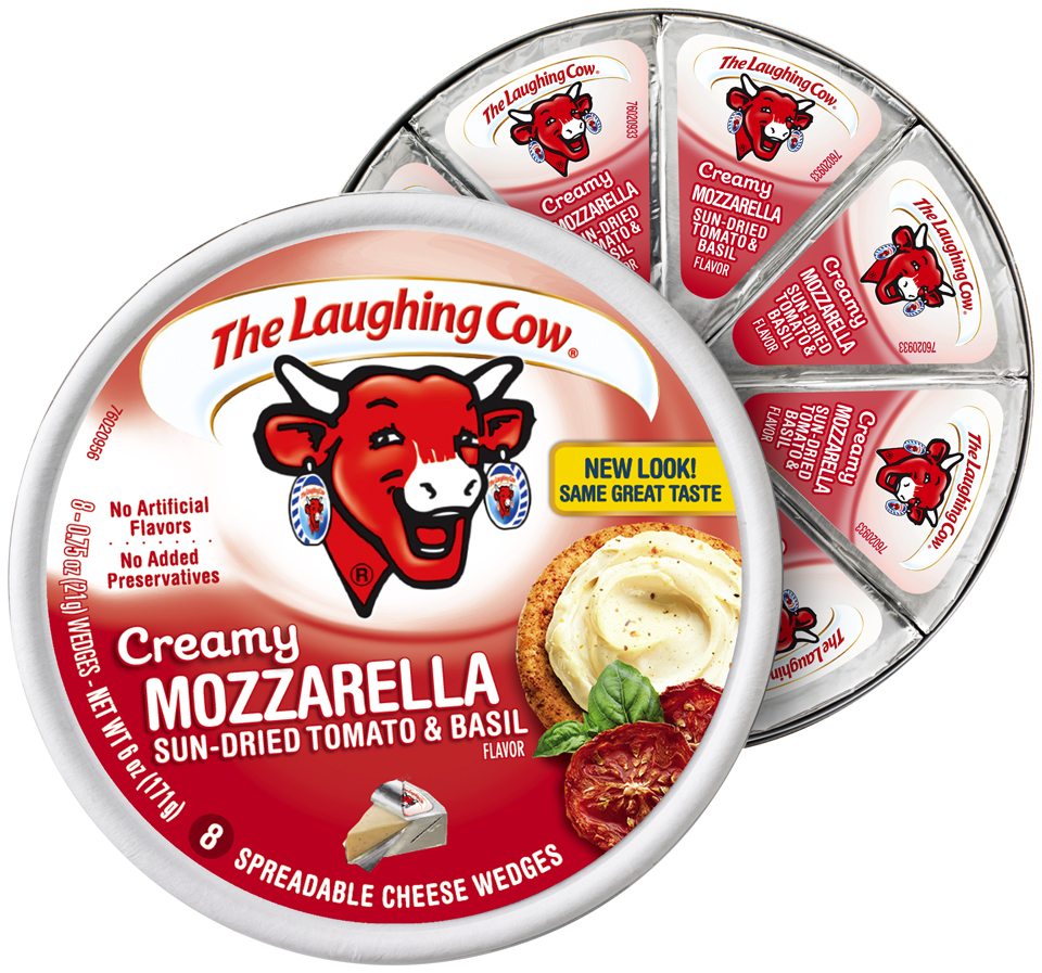 The Laughing Cow® Creamy Mozzarella Sun-Dried Tomato & Basil Cheese Wedges 8-.75 oz. Wheel