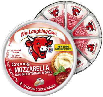 The Laughing Cow® Creamy Mozzarella Sun-Dried Tomato & Basil Cheese Wedges 8-.75 oz. Wheel