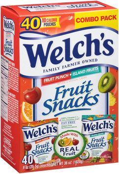 Welch's® Combo Pack Fruit Punch/Island Fruits Fruit Snacks