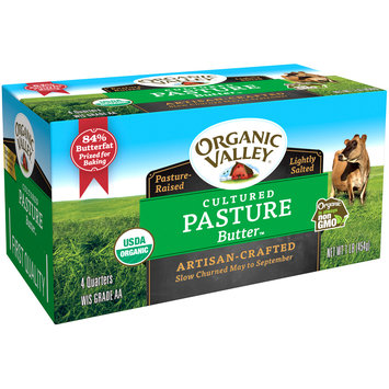 Organic Valley® Lightly Salted Cultured Pasture Butter™ Quarters 1 lb Box